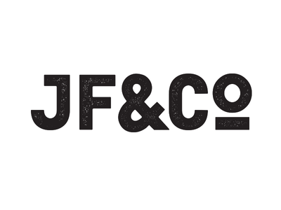 JF&CO - Strong & Simple Logo co and company custom type ampersand vintage logo