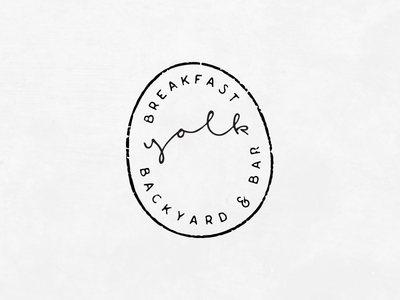 Logo Exploration lines texture stamp egg restaurant breakfast hand type hand lettering logo
