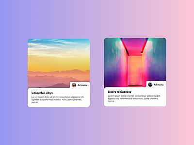 Best cards you can design for your Blog webdesign website ui  ux cards ui cards card blog