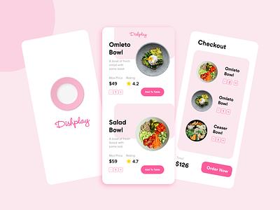 Dishplay ui  ux branding app app design ui application design