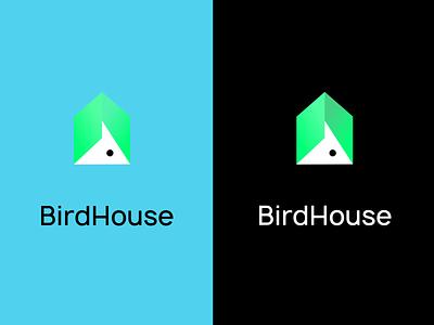 Bird House design unique logo logos uiux ui logodesign branding logo