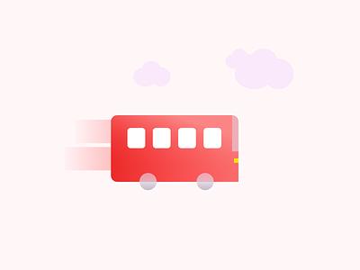 Travling bus logodesign app uiux minimal branding design icon typography vector illustration