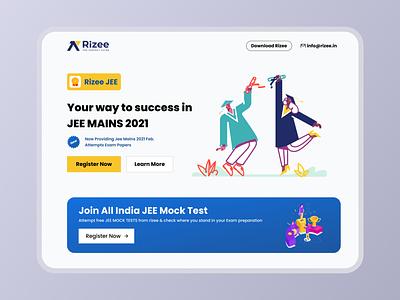 Jee Website design for EdTech startup illustration motion graphics graphic design 3d branding animation ux vector logo app website ui design