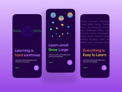 Learning Concept UI/UX Onboarding typography ux ui illustration vector logo branding app website design