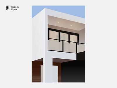 Building illustration Made in Figma branding graphic design 3d design vector illustration