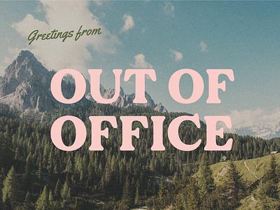 ooo postcard retro postcard typography type design