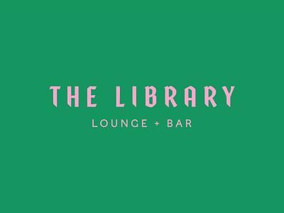 the library library type logo design identity bar lounge logo branding design