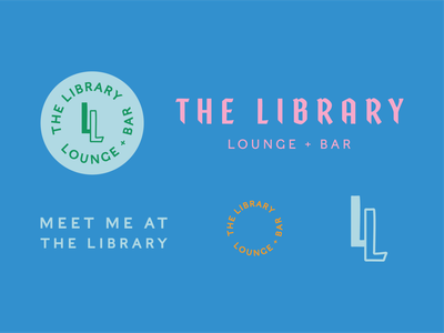 the library assets library bar lounge branding and identity lockup identity branding typography design