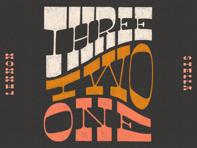 Three. Two. One. procreate lettering music texture album art hand lettering typography type design