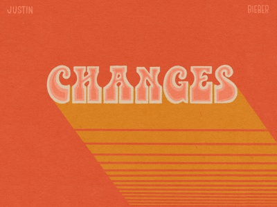 Changes custom type lettering handlettering procreate retro letters texture music album art hand lettering typography type design