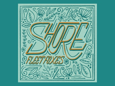 Shore pattern procreate floral drawing texture music album art hand lettering illustration typography type design