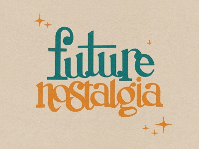 Future Nostalgia procreate lettering retro drawing letters texture music album art hand lettering typography type design