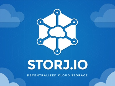Storj Logo blockchain blue storage cloud decentralized storj logo