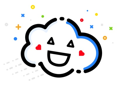 Happy Cloud Thingy :))) vector happy storj thingy cloud