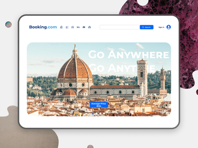 Booking Landing Page Redesign ui design travel app webui webdesign dailyui booking.com booking app ux ui