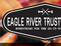 Eagle River Trustworthy Hipster Logo