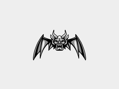 Gargoyle Numéro Un logo sketch illustration design gargoyle paris