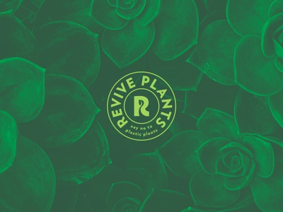 Revive Plants Badge Logo badge design logo plants revive