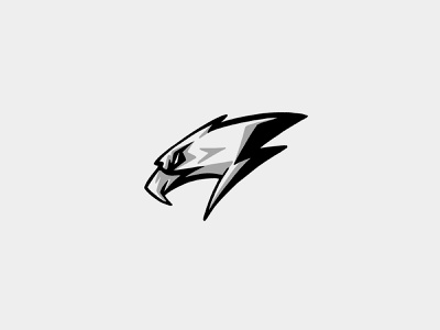 Unused Logo Sketch esports bird electricity bolt lightning thunder eagle sketch design logo