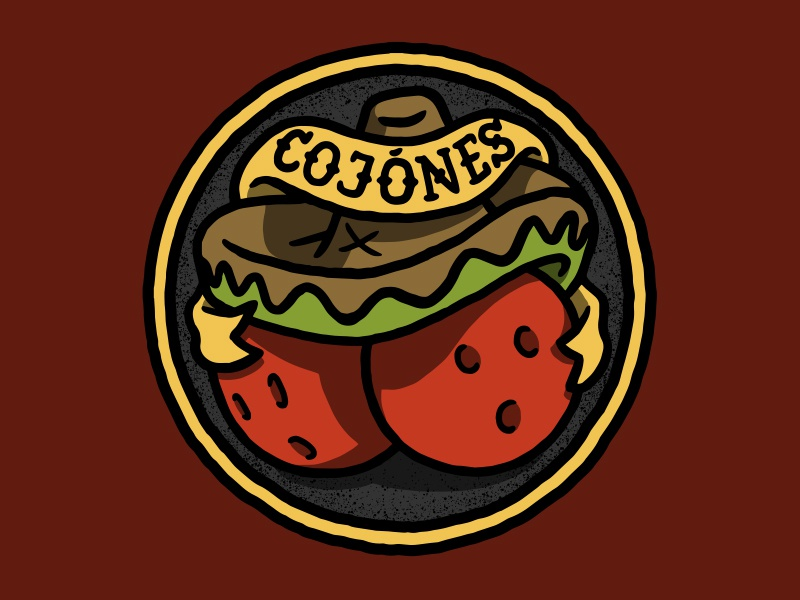 Badge cojones