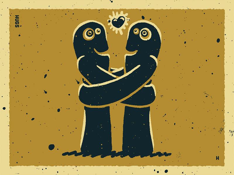36 Days Of Type H freehugs love cuddles cuddle hugs hug illustrativetype typography design lettering handlettering type illustration 36daysoftype06 36daysoftype-h 36daysoftype
