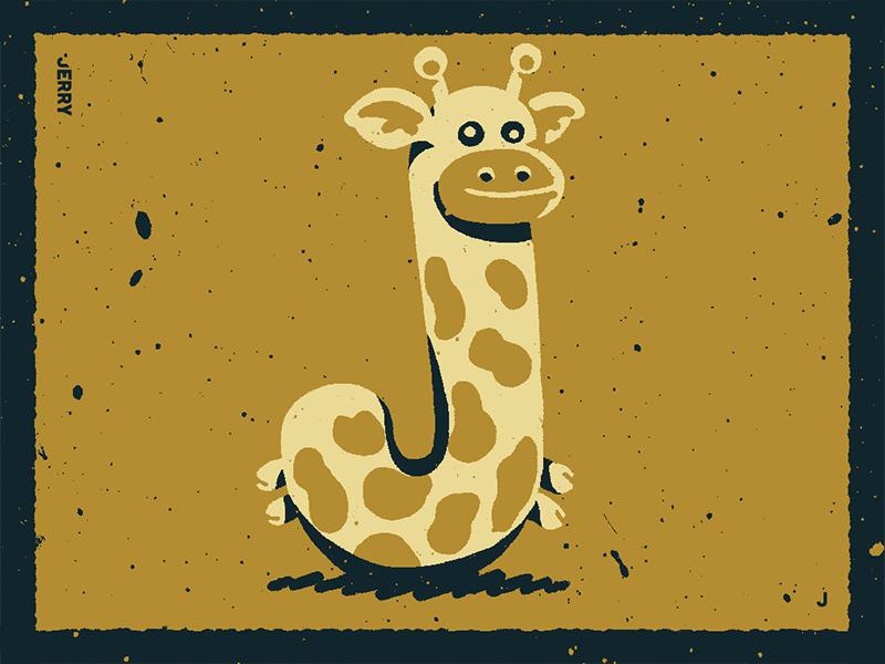 36 Days Of Type J toy plush bff jacob giraffe jerry illustrativetype typography design lettering handlettering type illustration 36daysoftype06 36daysoftype-j 36daysoftype