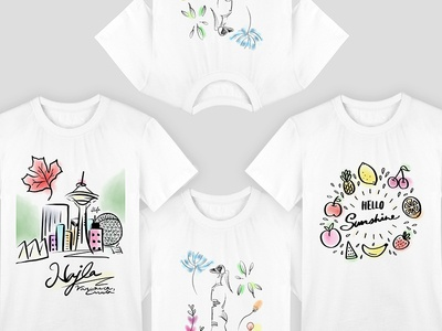 Hand drawing Illustration T-Shirts