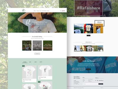 Website Design for an Eco-Friendly Clothing Brand