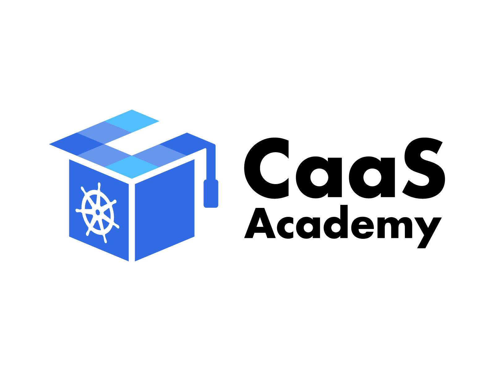 Brand Logo - CaaS Academy academy education business container kubernetes typography branding illustration logo
