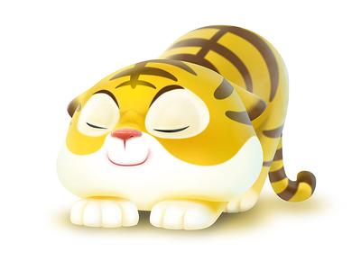 A newly awakened tiger