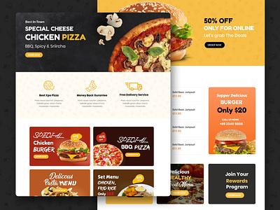Fast Food Theme Design burger pizza fast food menu