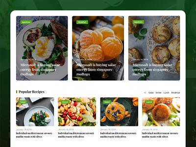 Food Blog Theme Design food design foodie food recipe food theme design food blog food review