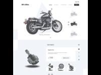80'S Bike Website | UX design