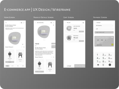 E-commerce app | UX Design / Wireframe