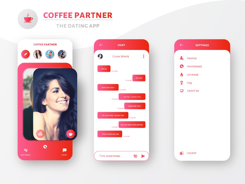 dribbble dating app designs
