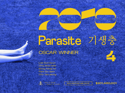 Parasite movie/ redesign/ typography minimal illustrator logo website art ui illustration artwork design