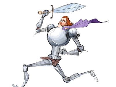 Running Knight illustrator animation art illustration artwork design