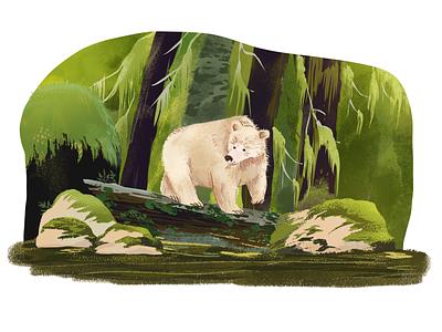 The walking Bear vector animation ui design painting digital artist digital painting digitalart illustrator art illustration artwork