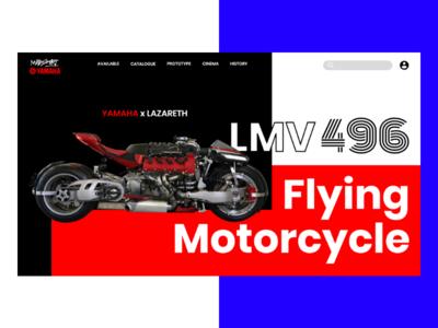 Yamaha - flying motorcycle web art