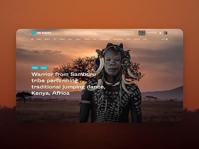 VN-DAILY Concept Web Design website web ux ui design