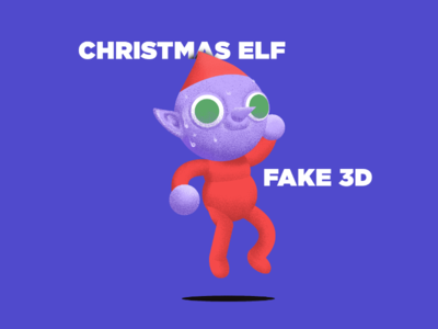 Christmas Elf - Fake 3D