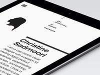 Portfolio Tablet Design