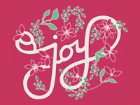 Joy Lettering - Holiday Card