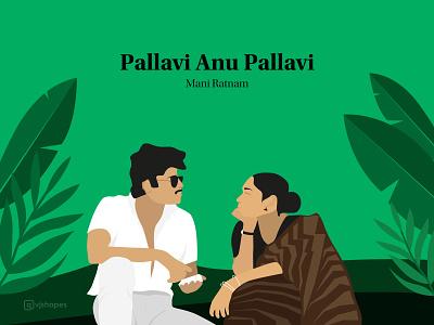 Film Poster of Pallavi Anu Pallavi director cinema indian romance lover movie poster poster minimalist picture film design practice vector drawing artist art illustrator dribbble designer illustration