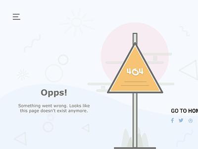 404 Not Found - Minimal Design ui 404 error page 404error 404 website landing page web ux design adobe xd