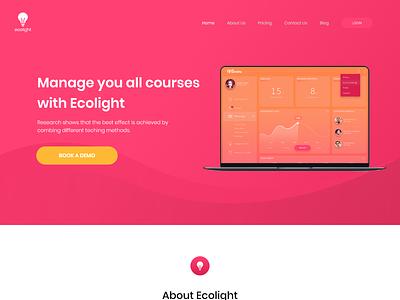 Ecosoft Web Design ux ui web design adobe xd landing page