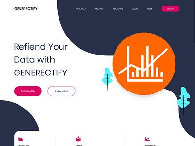 Generectify   Landing Page Design website web ux ui landing page design adobe xd