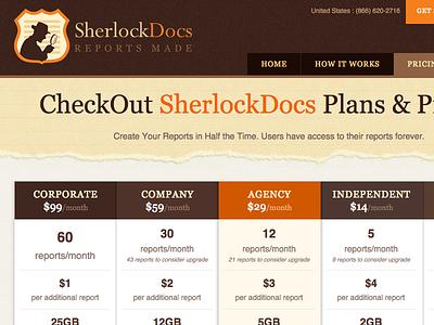 Sherlock web design