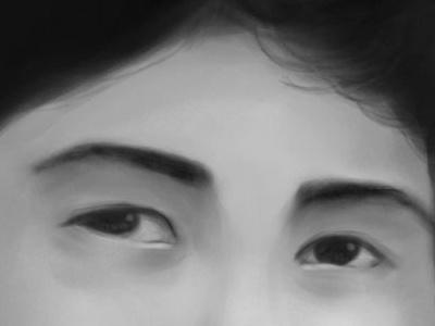 My Late Brother's Eyes digital illustration eyes