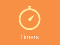 Timer icon, iPhone app
